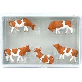 PREISER 14409 HO 1//87 Troupeau de 30 vaches brunes