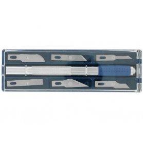 Coffret cutter de précision taille 1 scalpel de modélisme + 6 lames