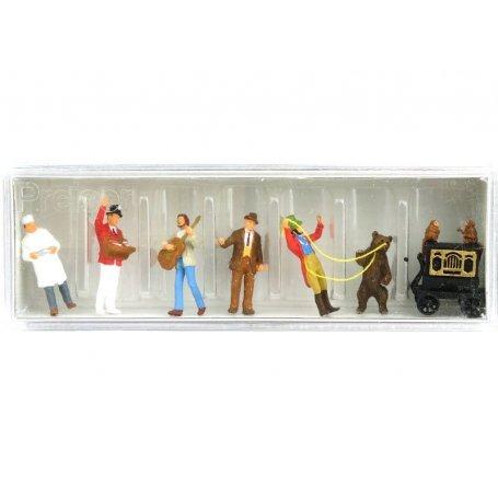 Orgue de barbarie, musiciens, montreur d'ours - HO 1/87 - PREISER 24653