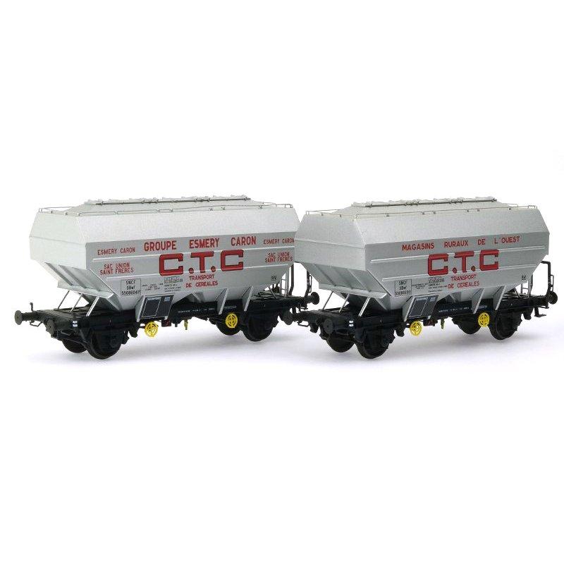 2x wagon Céréalier Richard CTC Ep REE WB-623 HO 1//87 III