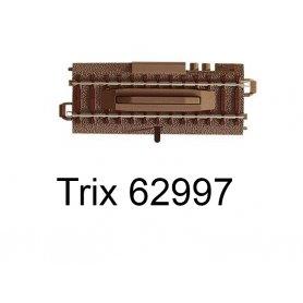Rail dételeur voie C électrique et manuel 64,2 mm - Trix 62997