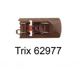 Rail avec butoir voie C 77,5 mm - Trix 62977