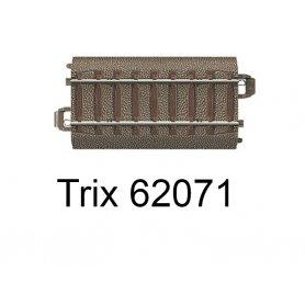 Rail droit voie C avec bord amovible 70,8 mm - Trix 62071