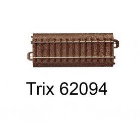 Rail droit voie C 94,2 mm - Trix 62094