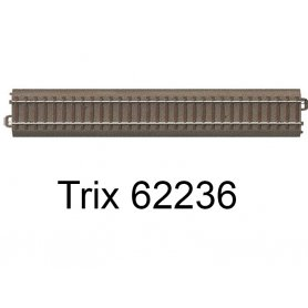 Rail droit voie C 236,1 mm - Trix 62236