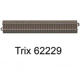 Rail droit voie C 229,3 mm - Trix 62229