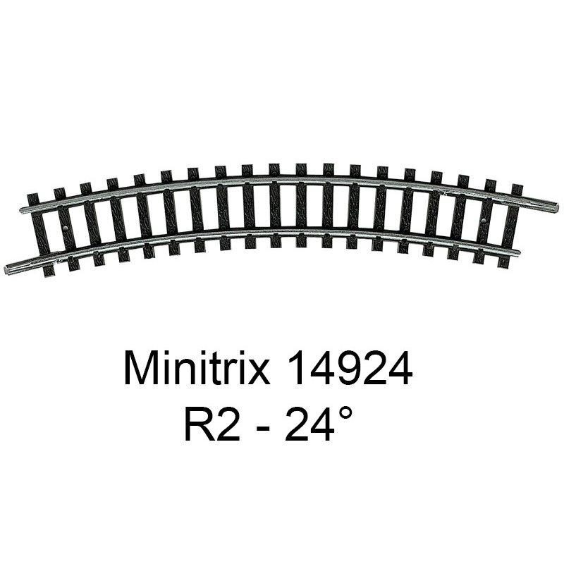 Trix 14914 Rail courbe R1 24° Minitrix