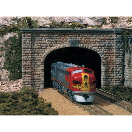 Tunnel double voie en plâtre - HO 1/87 - WOODLAND SCENICS C1257