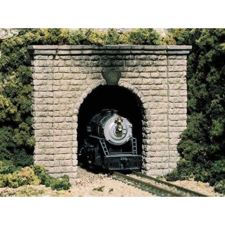 Tunnel simple voie en plâtre - HO 1/87 - WOODLAND SCENICS C1253