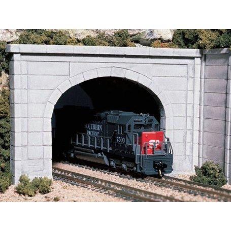 Tunnel double voie en plâtre style béton - HO 1/87 - WOODLAND SCENICS C1256