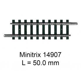 Rail droit Minitrix 50.0 mm - Trix 14907