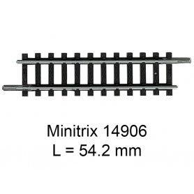 Rail droit Minitrix 54.2 mm - Trix 14906