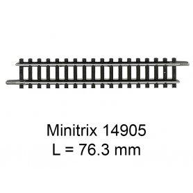 Rail droit Minitrix 76.3 mm - Trix 14905