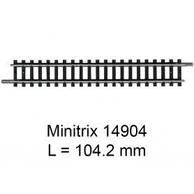 Rail droit Minitrix 104.2 mm - Trix 14904