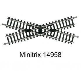 Croisement 104.2 mm 30 degrés Minitrix - Trix 14958