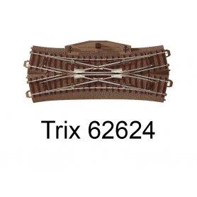 Traversé jonction double 188.3mm 24.3 degrés Voie C HO - Trix 62624