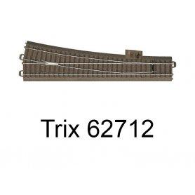 Aiguillage long à droite 236.1mm R9 - 12.1 degrés Voie C - HO - Trix 62712