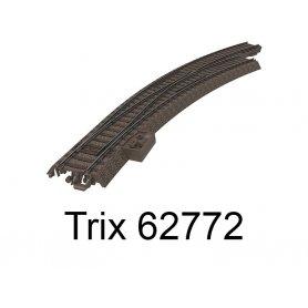 Aiguillage courbe long à droite R3 515mm 30 degrés Voie C - HO - Trix 62772