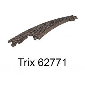 Aiguillage courbe long à gauche R3 515mm 30 degrés Voie C - HO - Trix 62771