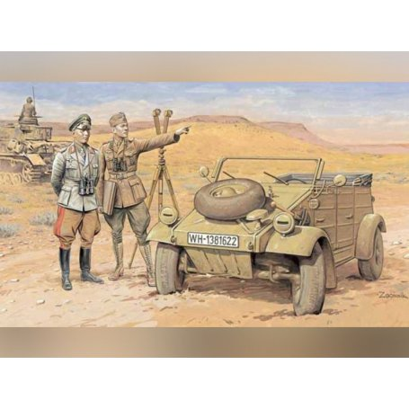 Kübelwagen DAK et Officiers WWII - échelle 1/35 - DRAGON 6364