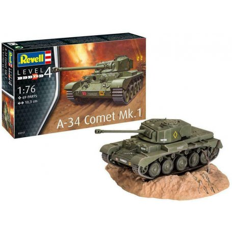 A-34 Comet Mk.1 WWII - échelle 1/76 - REVELL 03317