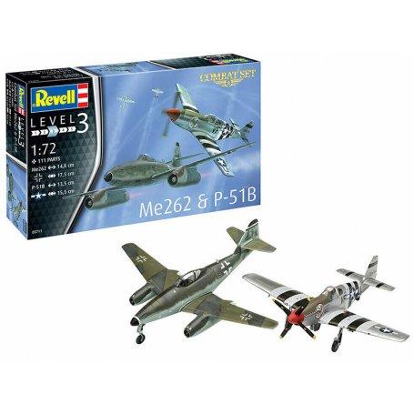 Combat Set Messerschmitt Me262 & P-51B Mustang - échelle 1/72 - REVELL 03711
