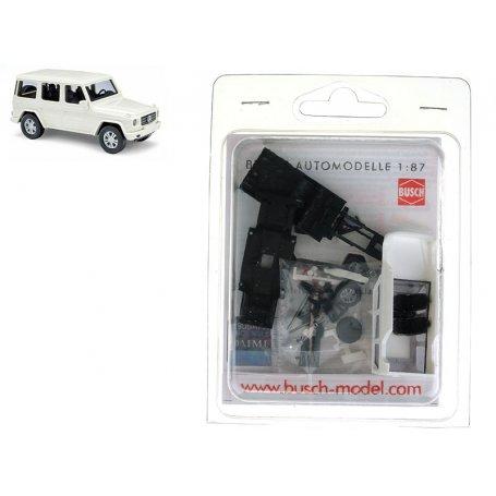 Mercedes-Benz classe G Blanc en kit à monter - HO 1/87 - BUSCH 60205