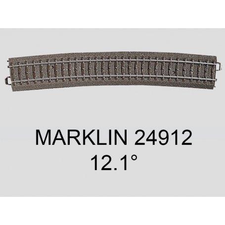 Aiguillage droit à gauche grand rayon 12.1 degrés voie C Marklin 24711