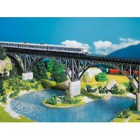 Pont métallique à 2 pilliers - N - Faller 222581