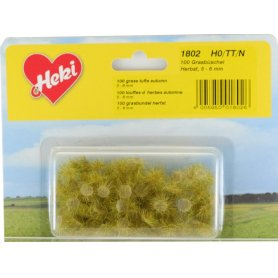 HEKI 1802 - 100 touffes d'herbe vert d'automne 5 - 6 mm échelle HO / N