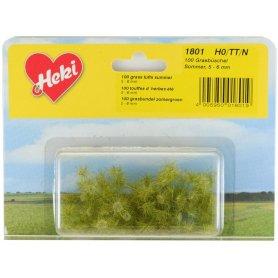 HEKI 1801 - 100 touffes d'herbe vert d'été 5 - 6 mm échelle HO / N