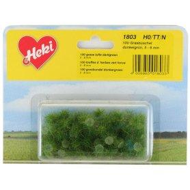 HEKI 1803 - 100 touffes d'herbe vert foncé 5 - 6 mm échelle HO / N