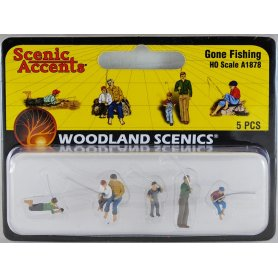 Pêcheurs à la ligne HO - WOODLAND SCENICS A1878