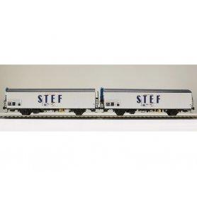 LS Models 30230 - Coffret de 2 wagons lgs STEF bleu sur porte SNCF époque IV - HO