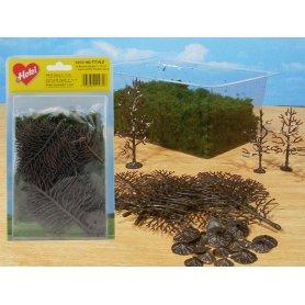 HEKI 1972 - 15 arbres en kit 6-12 cm HO / N / Z avec foliage