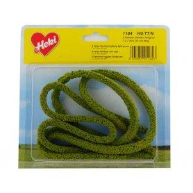 HEKI 1184 - 3x haie flexible 7x7 mm en mousse 50 cm de long vert clair HO / N