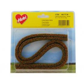 HEKI 1750 - 2x haie flexible argousier 12x7 mm en mousse 50 cm de long HO / N