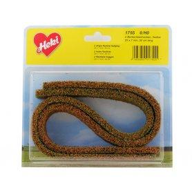 HEKI 1755 - 2x haie flexible argousier 25x7 mm en mousse 50 cm de long HO / N