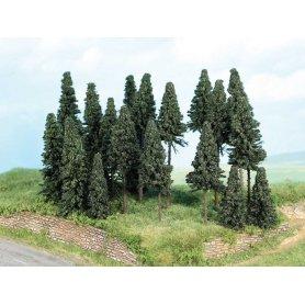 HEKI 2262 - forêt de 20 sapins divers dont tronc hauts 5 à 11 cm - HO et N