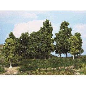 HEKI 1991 - 15 arbres à feuilles 15 à 18 cm - échelle HO