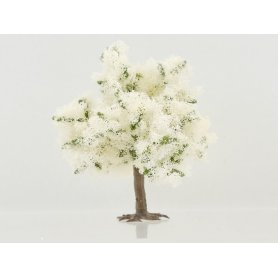 Arbre en floraison à fleurs blanches à l'unité 7 cm HO ou N - Busch 6331C