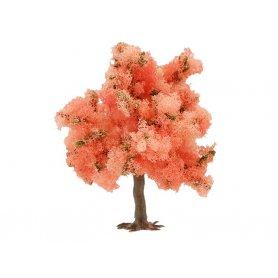 Arbre en floraison à fleurs roses à l'unité 7 cm HO ou N - Busch 6331D