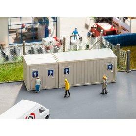 Bloc de conteneurs sanitaires - HO - Faller 130131