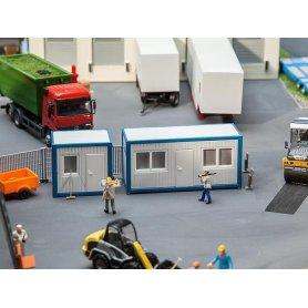 Bloc de conteneurs bureaux - algeco - HO - Faller 130132