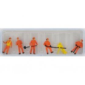 PREISER 14035 - Personnel d'entretien des routes et équipement - HO 1/87