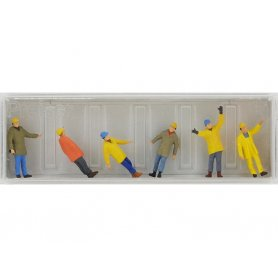 PREISER 10423 - Ouvriers avec casques et tenue de protection - HO 1/87