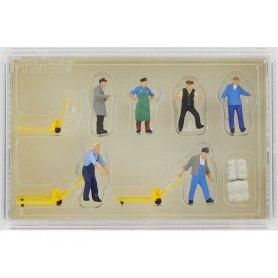 PREISER 10255 - Personnel d'entrepôt et accessoires - HO 1/87