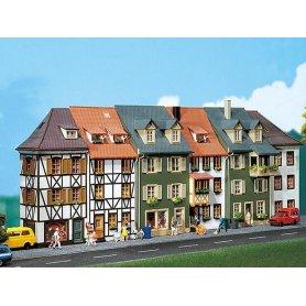 6 demi maisons en relief - HO - Faller 130430