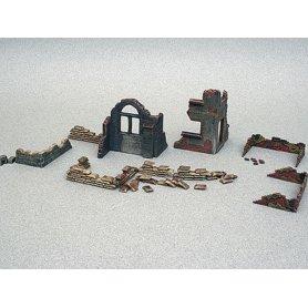 ITALERI 6087 - 1/72 - décor de ruines et murs - WWII