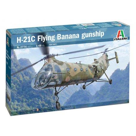 Hélicoptère H-21C Flying Banana Gunship - 1/48 - ITALERI 2774